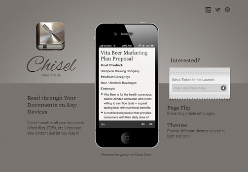Chisel Landing Page by moyicat