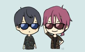 gif : Matching Glasses by sawa-rint