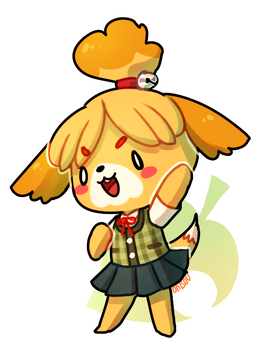 animal crossing -- isabelle by onisuu