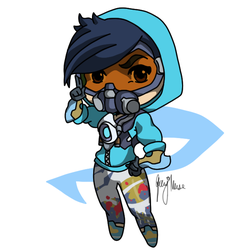 Tracer Cute Spray Graffiti Outfit by JashawnMuse