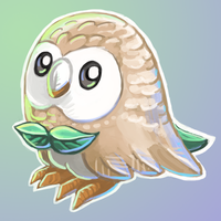 Rowlet Speedpainting by KeeperofAges