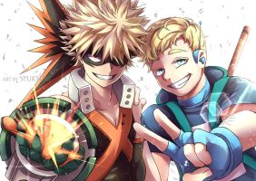 Kacchan and Andrew - Commission by SpukyCat