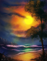 Bob Ross Challenge - Nov 14 2015 by TawnART