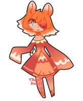 Red and Orange Bunny Adopt [Closed] by TrashKnife-Adopts