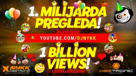 1 BILLION VIEWS on djnykk channel! by djnick2k