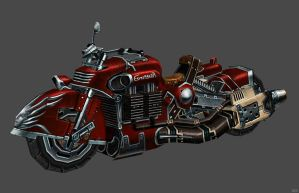 'Devil May Cry 3' Lady's Bike XPS ONLY!!! by lezisell