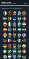 Flags of Africa - Flat Icons by BlinVarfi