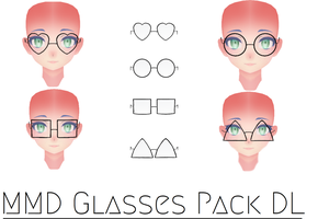 MMD Glasses Pack DL by mianbaga-MMD