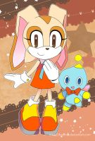 Sonic Postcard - Cream and Cheese by Crystal-Ribbon