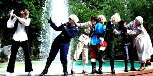 Fighting Together Hetalia Cosplay by LovelyGhostWriter