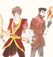 Competitive Firebenders by Silver-Shadoww