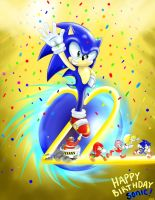 Happy birthday sonic!! by FANTASY-WORKS-JMBD