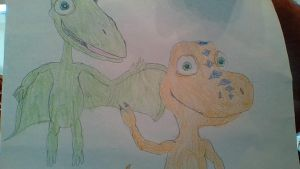 Dinosaur Train- Buddy and Tiny say Hi! by Dracorider19