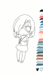 Luly para colorir / according to the palette by WeverthonGTABR