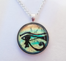 Ancient Eye of Horus Pendant by HoneyCatJewelry