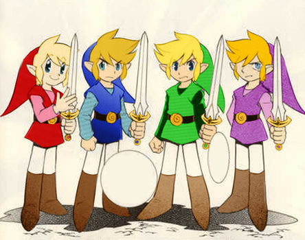 Four Swords Manga Coloring by BroadwayJadeOfficial