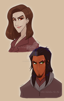 TLK: Zira and Scar human practice by The-PirateQueen