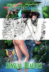 Sensual Beauties Coloring Book Front Cover by rantz