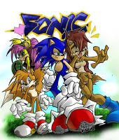 Lamont's Sonic Peeps Colored by herms85