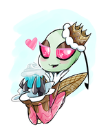 Royalty Sweet!Zim commission by Kodoukat by Glitched-Irken