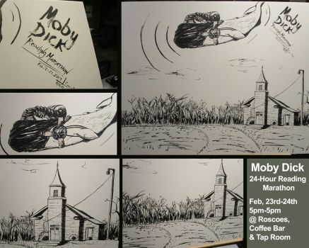 Moby Dick Art for Reading Marathon by ExevaloN