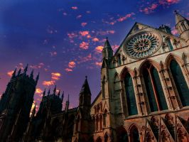 York Minster Sunset by RicksCafe