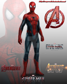 Spider-man MCU design by ruga-rell