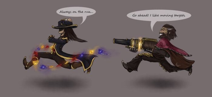 Graves vs Twisted Fate by Sarianne