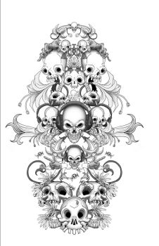 Skull Candy Package illo by Forty-Nine