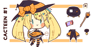 CLOSED: Pumpkin Witch Cacteen Auction by miolet
