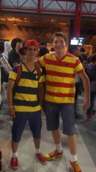 Ness and Lucas Cosplay by BigAlax