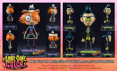 Long Gone Gulch Maquettes by emilySculpts