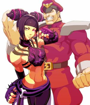 Juri and Bison by oetaro