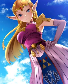 Commission - Zelda [Normal Version] by SYSEN