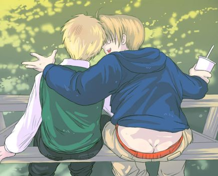 USUK - showing some skin lol by TechnoRanma