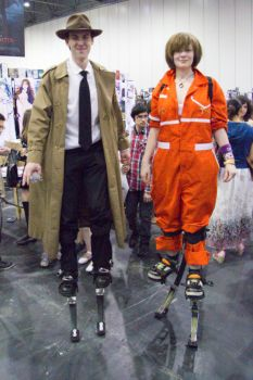 Inspector Gadget and Chell - MCM London by Kant-Predict