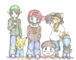 Nintendo Gangsters by Jedi-Kitty-chan
