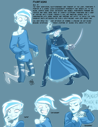 Character sheet: Phantasma by RobD2003