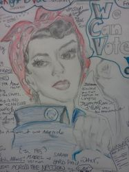 ROSIE THE RIVETER reDrawing by Jessica Pittington by ColorsRBlinding