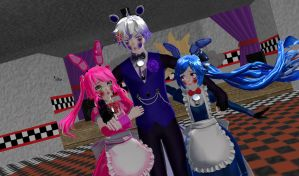 {MMD X FNAFSL} This Is The Man That Hurt Us, Dad by MikuMiraculous