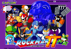 Mega Man Time Tangent Famicom Cover by JusteDesserts