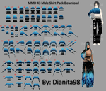 MMD 43 Male Shirt Pack Download by dianita98