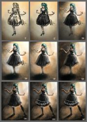 making off gothic girl by DHaiku