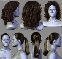 7 Hairstyles (2) by Woodys3d
