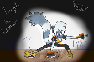 Tangle the Lemur by KayceInk