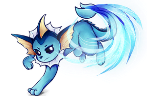 Vaporeon used Aqua Tail! by DragonA7X