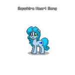 Pony Town Sapphire Heart Song by LovestruckDart
