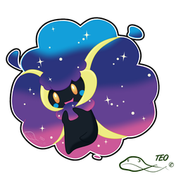 Pokemon Fusion - Cosmicott by The-Emerald-Otter