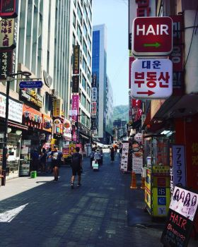 Myeongdong - Side street by WANNAONE