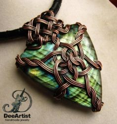 Queen of Asgard Celtic Knot Necklace by DeeArtist by DeeArtist321